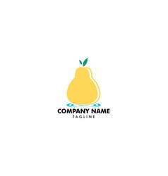 pear fruit food logo design vector image