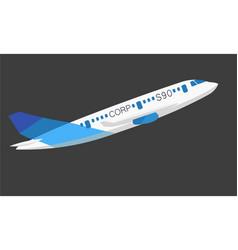 Plane image vector