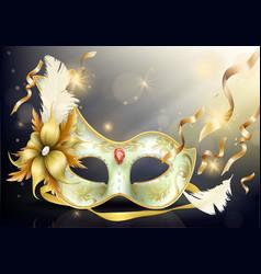 precious face carnival mask realistic vector image