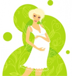 pregnant women floral vector image