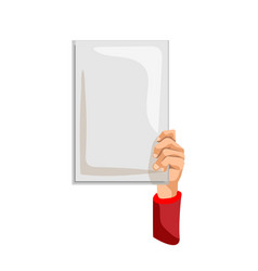 protest sign isolated activist man person hand vector image