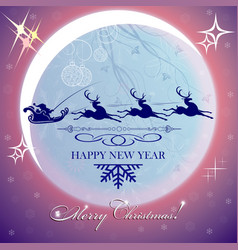 Purple christmas background with moon vector