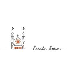 ramadan kareem simple minimal background vector image