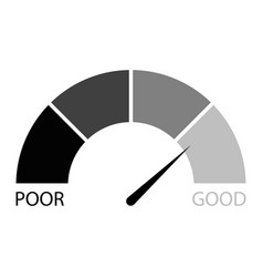 Rating credit indicator black white vector