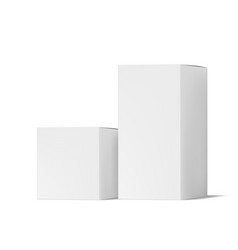 realistic simple paper box packaging with shadow vector image