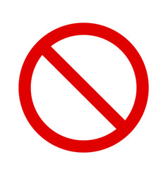 Red ban banned stop or restriction sign icon vector