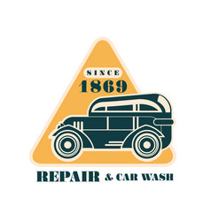 repair and car wash since 1869 log auto service vector image