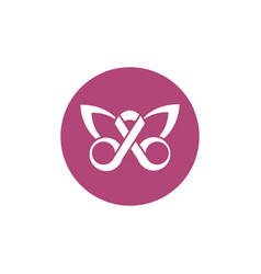 ribbon shaped butterfly breast cancer awareness vector image