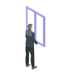 Room window installation icon isometric style vector