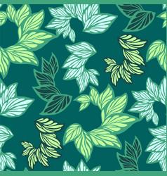 seamless pattern with leaves made in graphic vector image
