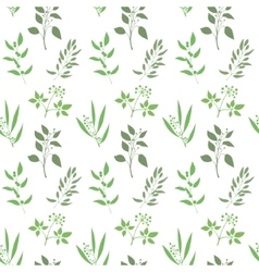 Seamless plant background Endless pattern with vector image