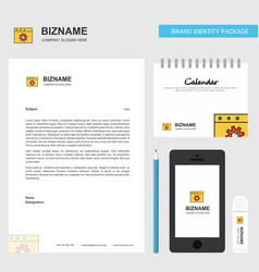 setting business letterhead calendar 2019 and vector image