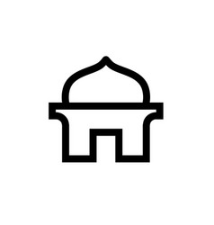 Simple mosque icon line art design vector