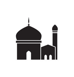 Single tower silhouette mosque graphic design vector