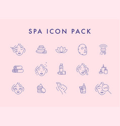 spa related line icons vector image