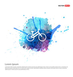 Sport bicycle icon - watercolor background vector