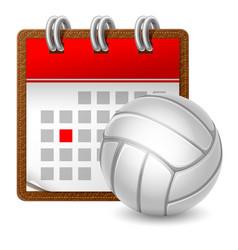 sport calendar vector image
