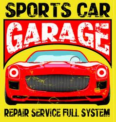 Sport car t-shirt sport boys vector