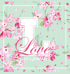 Spring and summer flowers graphic design vector