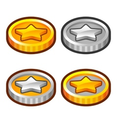 Star coins 2 vector image