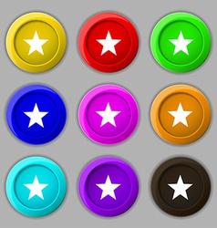 Star Favorite Star Favorite icon sign symbol on vector image