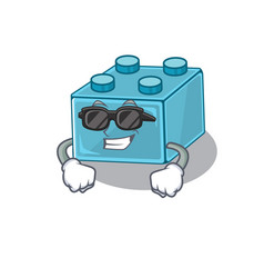 Super cool lego brick toys character wearing vector