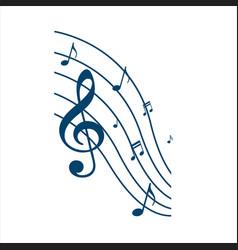 symphony music note design instrumental vector image