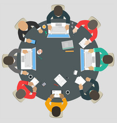 teamwork for roundtable vector image