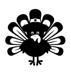 Thanksgiving turkey character icon vector