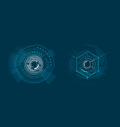 two templates of bright interface geometric banner vector image