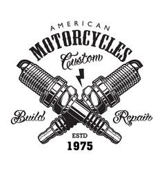 vintage motorcycle label concept vector image