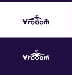 Vrooom logo design vector