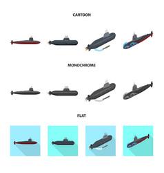 War and ship symbol set of vector