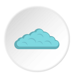 Wet cloud icon circle vector