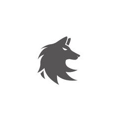 Wolf head logo fox face design vector