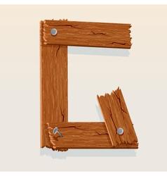 wooden letter g vector image