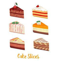 Cake slice vector image