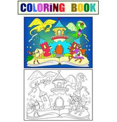 Color fairy open book tale concept kids vector