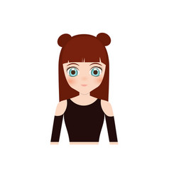 cute anime girl character vector image