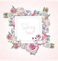 it is spring card vector image