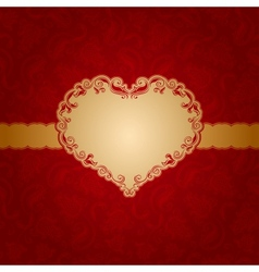 Template frame design for greeting card vector image
