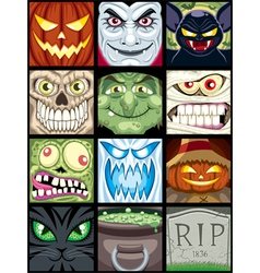 Halloween Avatars vector image vector image