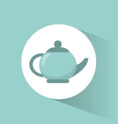 kettle pot coffee porcelain vector image