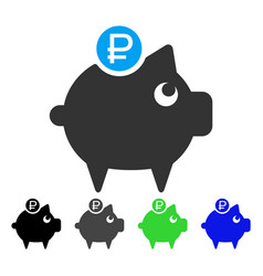 rouble piggy bank flat icon vector image vector image