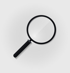 transparent magnifying glass realistic vector image vector image