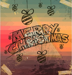 2014 Christmas Vintage typograph design vector image vector image