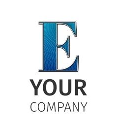 Abstract guilloche Logo letter-E vector image