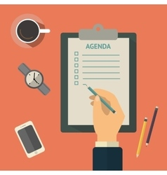 Agenda list concept Business vector image vector image