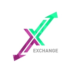 Arrow X logo design vector image vector image