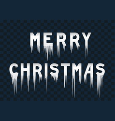 frozen text merry christmas vector image vector image